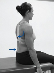 The correct postural position.